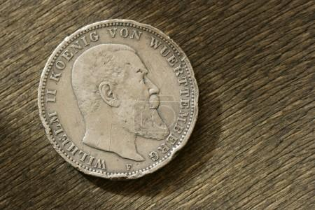 German silver coin. 1910 year.