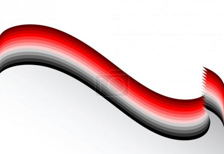 Red-grey wavy lines. Background.
