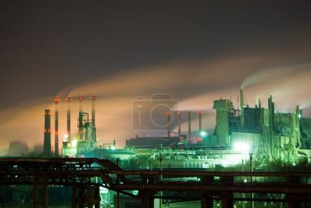 Nuclear station in russia at night
