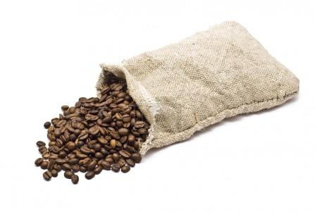 Sack with coffee bean