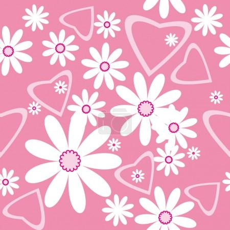 Seamless pattern with camomiles