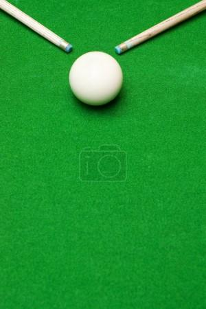 Billiard green blaze with white ball