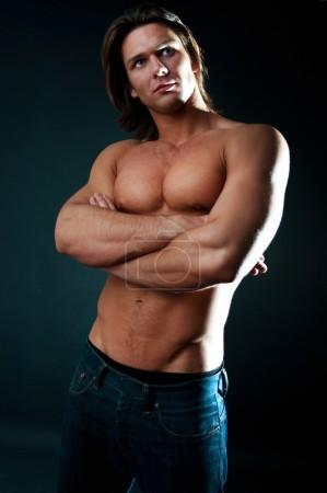 Handsome muscular guy