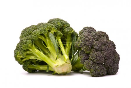 Fresh broccoli isolated over the white