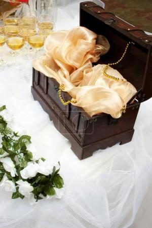 Money box on wedding table