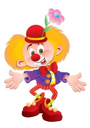 The cheerful clown