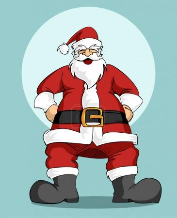 Santa Claus: Christmas greeting card