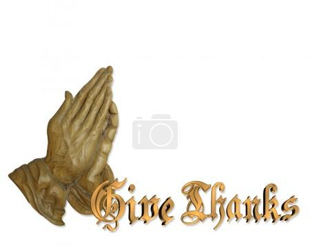Praying hands Give Thanks