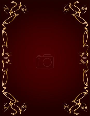 Gold and Burgundy background 3