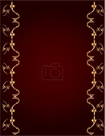 Gold and Burgundy background 1