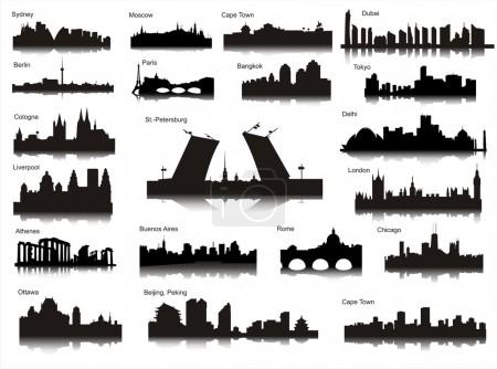 Popular cities of the world