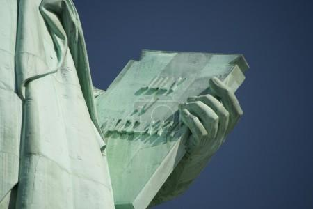 The Book Held by the Statue of Liberty