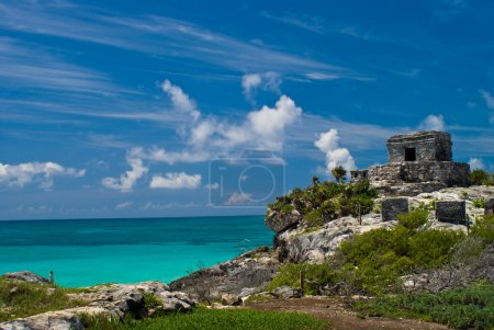 Tulum ruins by the ocean