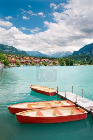 Rowboats on Lake Brienz