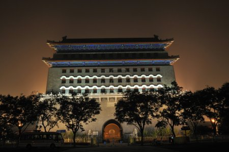 Landmark of Qianmen gate in beijing