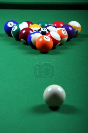 Pool Balls and table