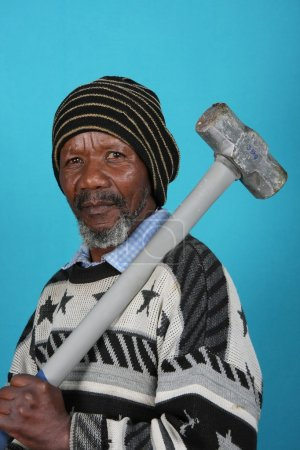 African Man and Hammer