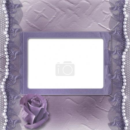 Grunge lilac card for invitation