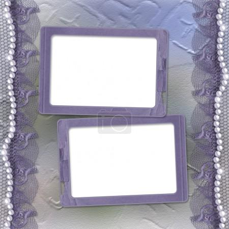 Grunge lilac frame for photo