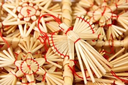Christmas decorations from straw