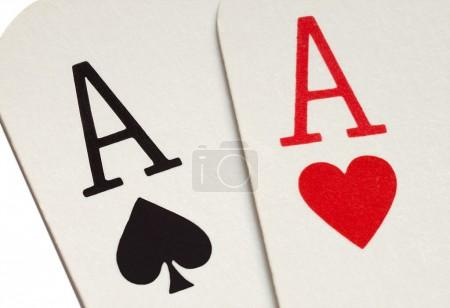 A pair of aces playing cards.