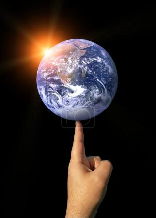 The Earth Balancing on a Finger