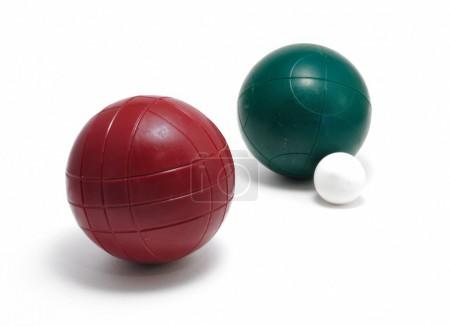 Red and Green Bocce Balls