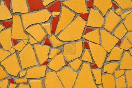Yellow and Red Tile Mosaic