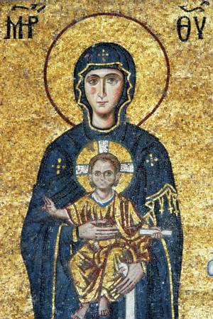 Mosaic of Virgin Mary and Chesus Christ