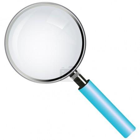 A magnifying glass (lens)