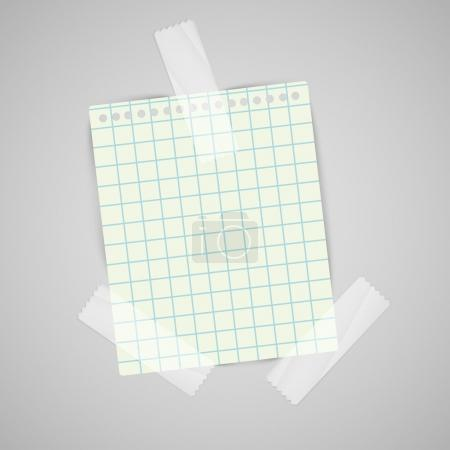 Note paper with scotch tape sample