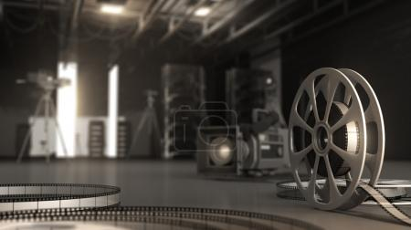 reel with tape