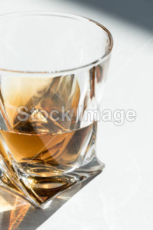 bourbon in glass